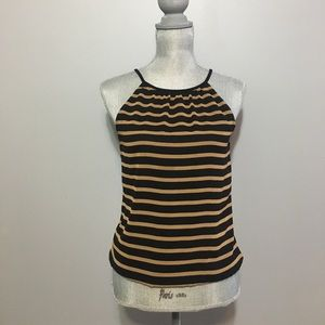 Express black and tan striped top